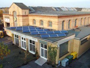 Veranstaltungsgebäude Krefeld 3,32 kWp GSS 20 STück 170 W Module