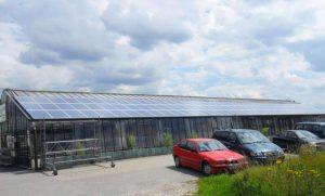 Gewächshaus Krefeld 86,16 kWp Yingli 240 W Module 359 Stück