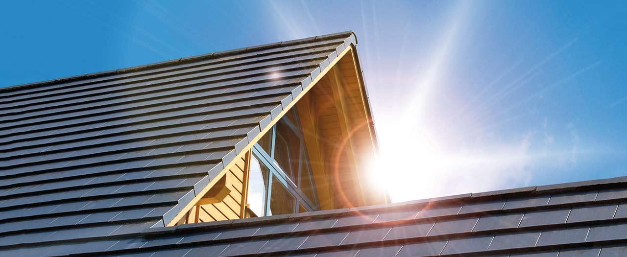 Solarwärme vom Hausdach